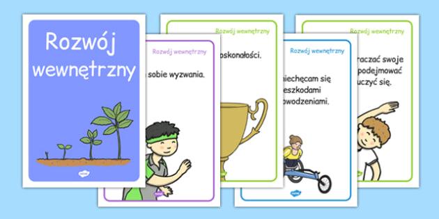 Plakaty Rozwój wewnętrzny po polsku - wychowawcza, motywacja