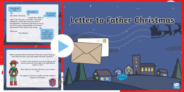 Letter to Father Christmas Task Setter - christmas, santa, letter