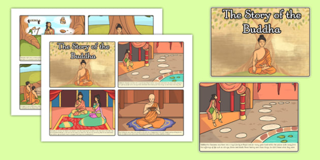 The Story of The Buddha Story Sequencing 4xA4 - story of buddha, buddha, buddhism, story sequencing