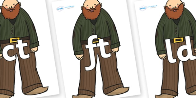 Final Letter Blends on Giants - Final Letters, final letter, letter blend, letter blends, consonant, consonants, digraph, trigraph, literacy, alphabet, letters, foundation stage literacy