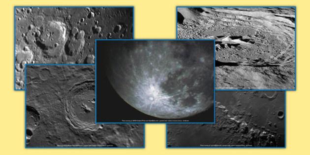 Lunar Craters Photo Pack - lunar craters, photo pack, photo, pack