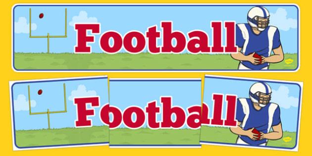 Football Display Banner - usa, football, american football, display banner, display, banner