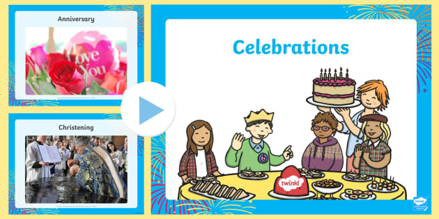 Celebrations Photo PowerPoint - celebrations, photos