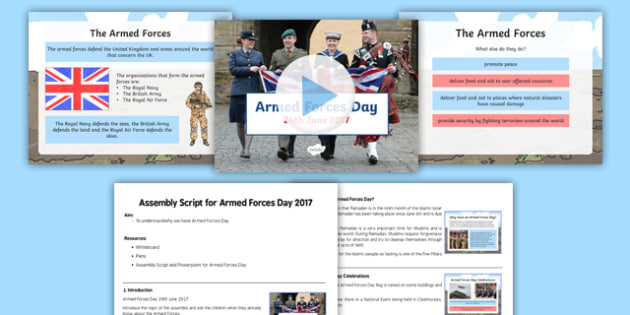 Armed Forces Day Assembly Pack
