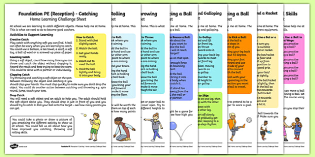 Foundation PE (Reception) - Games - Best of Balls Home Learning Challenge Sheets Pack - EYFS, PE, Physical Development, homework, home learning