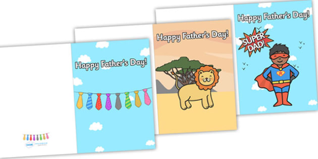 Father's day card templates - father, cards, gifts, writing aid