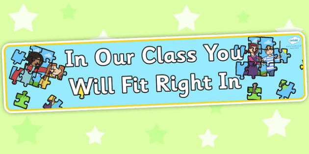 In Our Class You Will Fit Right In Display Banner - class display