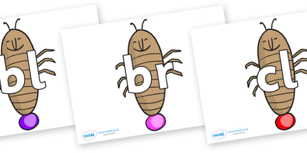 Initial Letter Blends on Glowworm to Support Teaching on James and the Giant Peach - Initial Letters, initial letter, letter blend, letter blends, consonant, consonants, digraph, trigraph, literacy, alphabet, letters, foundation stage literacy
