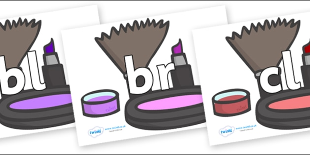 Initial Letter Blends on Make Up - Initial Letters, initial letter, letter blend, letter blends, consonant, consonants, digraph, trigraph, literacy, alphabet, letters, foundation stage literacy