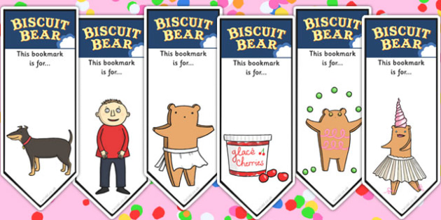 Editable Bookmarks to Support Teaching on Biscuit Bear - Biscuit, Bear, Story, Bookmark