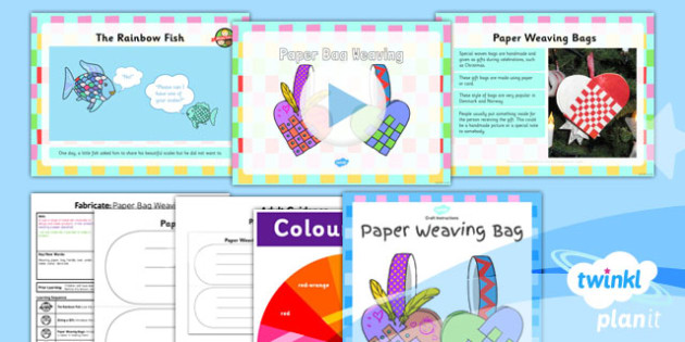 Art: Fabricate: Paper Bag Weaving KS1 Lesson Pack 3