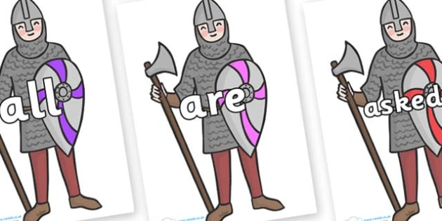 Tricky Words on Soldiers - Tricky words, DfES Letters and Sounds, Letters and sounds, display, words