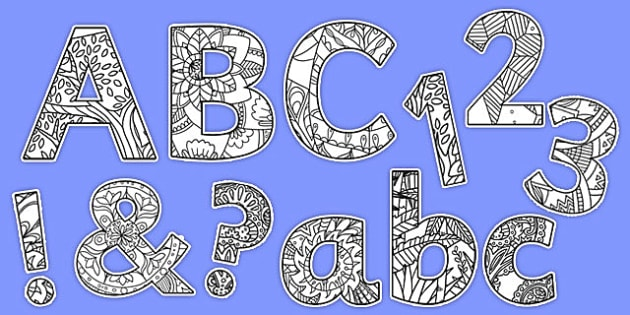 Mindfulness Themed Display Lettering Pack - colouring, mindful, concentration, display