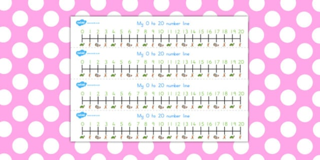 The Tortoise and the Hare Number Lines 0 20 - numbers, counting