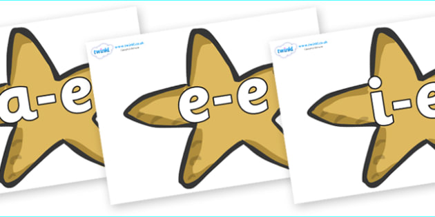 Modifying E Letters on Starfish - Modifying E, letters, modify, Phase 5, Phase five, alternative spellings for phonemes, DfES letters and Sounds