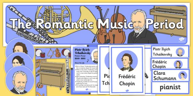Romantic Period Music Display Pack - romantic period, display