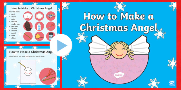 Christmas Angel Craft Activity PowerPoint - christmas, christmas craft, christmas crafts, christmas angel, crafts, art, powerpoint, christmas powerpoint