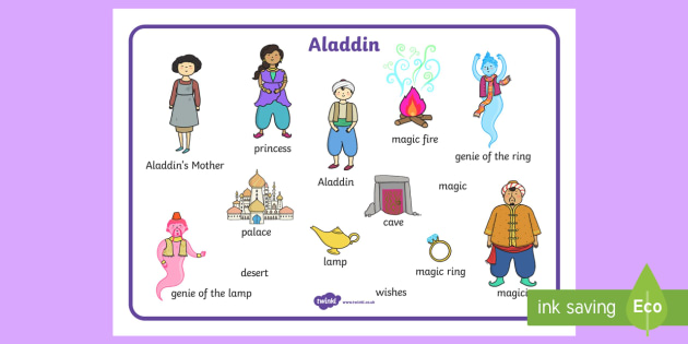 Aladdin Word Mat - aladdin, word mat, key words, stories, story
