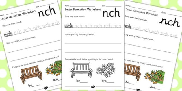 Phase 4 Final Blends Letter Formation Worksheets - phase 4, blend