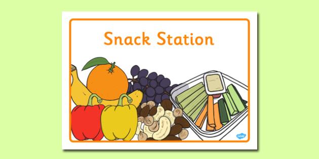 Snack Station Display Poster - snack station, display poster, snack, station, display, poster