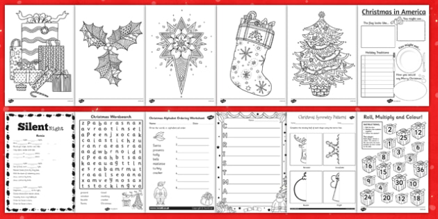 KS2 Christmas Activity Booklet - ks2, christmas, activity, booklet