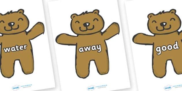 Next 200 Common Words on Teddy Bears - Next 200 Common Words on  - DfES Letters and Sounds, Letters and Sounds, Letters and sounds words, Common words, 200 common words