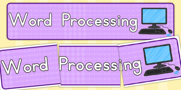 Word Processing Display Banner - banners, displays, computers