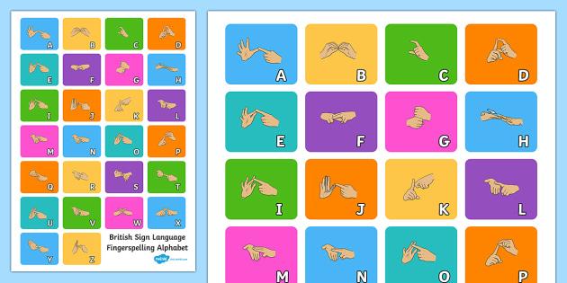 A4 British Sign Language Fingerspelling Alphabet Poster - sign