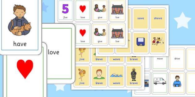 Final 'V' Sound Playing Cards - final v, sound, playing cards