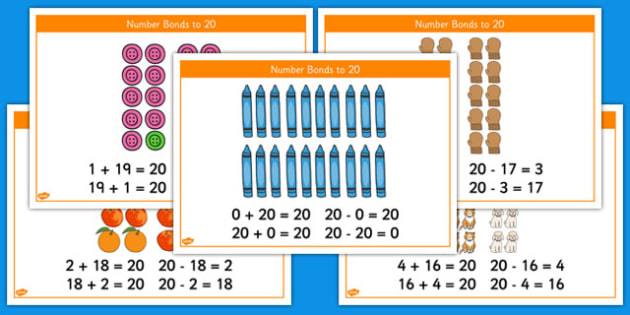 Number Bonds to 20 Stories Inverse Number Sentences - number bonds, 20, stories, number, bonds, inverse