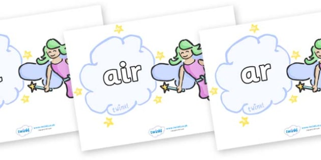 Phase 3 Phonemes on Fairies - Phonemes, phoneme, Phase 3, Phase three, Foundation, Literacy, Letters and Sounds, DfES, display