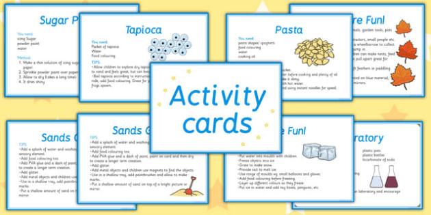 Sensory Activity Cards - australia, sensory, activity, cards