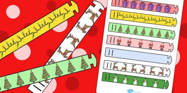 Christmas Themed Wristband - wristbands, christmas, themed