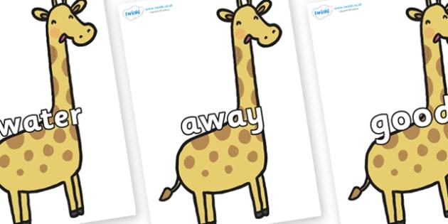 Next 200 Common Words on Giraffes - Next 200 Common Words on  - DfES Letters and Sounds, Letters and Sounds, Letters and sounds words, Common words, 200 common words