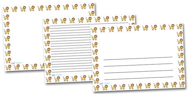 Lion Portrait Page Borders- Portrait Page Borders - Page border, border, writing template, writing aid, writing frame, a4 border, template, templates, landscape