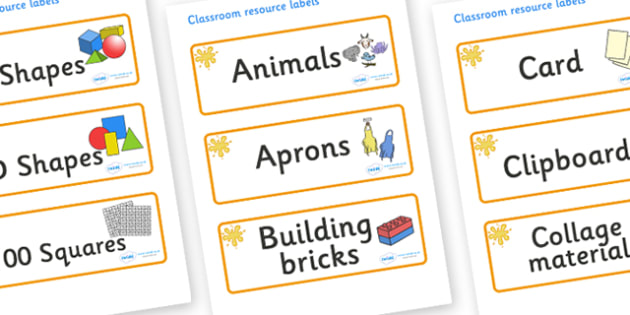 Amber Themed Editable Classroom Resource Labels - Themed Label template, Resource Label, Name Labels, Editable Labels, Drawer Labels, KS1 Labels, Foundation Labels, Foundation Stage Labels, Teaching Labels, Resource Labels, Tray Labels, Printable lab