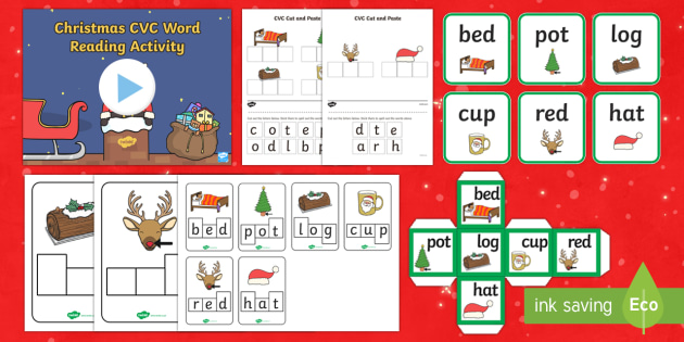 Christmas CVC Words Activity Pack