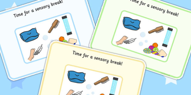 Time For A Sensory Break Support Cards - SEN, learning support