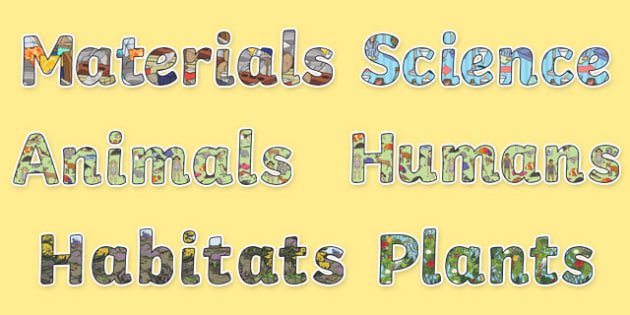 Year 2 Science Themed Display Letters and Numbers Resource Pack - Science lettering, Science display, Science display lettering, year 2, science, display lettering