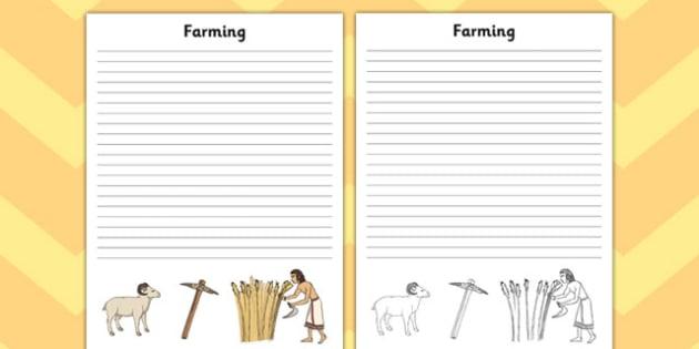 Ancient Sumer Farming Writing Frame - sumer, farming, frame