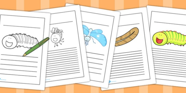 Writing Frames to Support Teaching on The Crunching Munching Caterpillar - writing aid