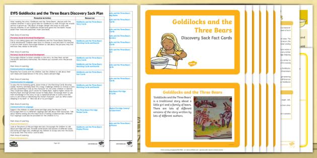 Goldilocks and the Three Bears Discovery Sack - goldilocks, sack