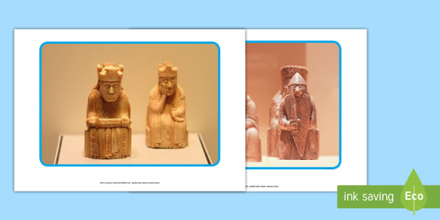 The Lewis Chessmen Photo Pack-Scottish - Use this photo pack to study the fascinating Lewis Chessmen. Examine their shape and design and stud