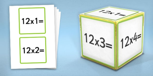 Giant Foam Dice Squares 12 Times Tables - foam dice, squares, 12