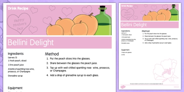 Elderly Care Mother's Day Alcoholic Drink Recipe - Elderly, Reminiscence, Care Homes, Mother's Day
