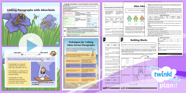 PlanIt Y5 Language Conventions: Linking Paragraphs Using Adverbials Lesson Pack - PlanIt Y5 Language Conventions: Linking Paragraphs Using Adverbials Lesson Pack, adverbs, adverbial