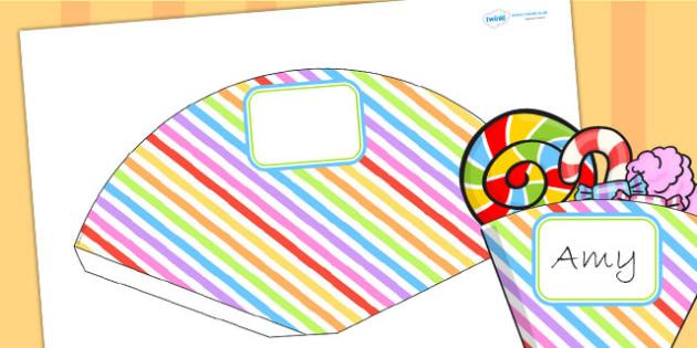Rainbow Themed Birthday Party Food Cones - parties, birthdays
