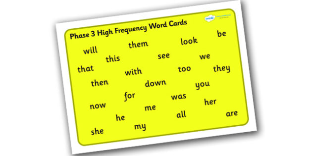 Phase 3 High Frequency Word Mat for Visually Impaired - phase 3, high, frequency, word, mat, visually, impaired, high frequency, visually impaired