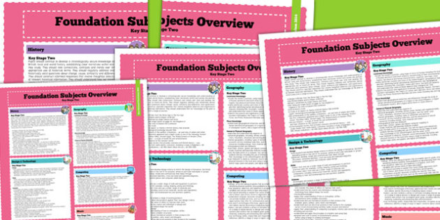 2014 Curriculum KS2 Foundation Subjects Overview - new curriculum