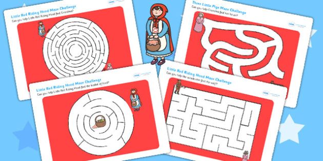 Little Red Riding Hood Differentiated Maze Activity Sheet Pack, worksheet